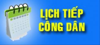 Thường trực HĐND tỉnh An Giang thông báo lịch tiếp công dân