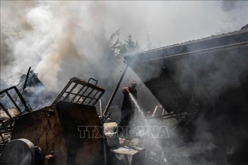 Cháy rừng thiêu rụi hàng chục nhà dân tại Hy Lạp