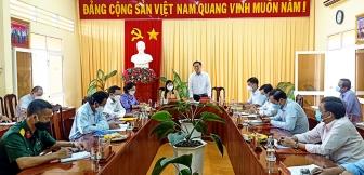 Phó Chủ tịch UBND tỉnh An Giang Trần Anh Thư kiểm tra công tác phòng, chống dịch bệnh COVID-19 tại huyện Thoại Sơn