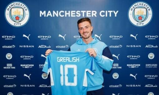 Man City chiêu mộ thành công Jack Grealish với mức giá kỷ lục