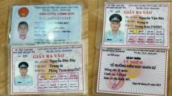 Bắt đối tượng sử dụng giấy tờ quân đội giả để qua chốt kiểm soát