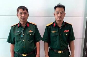 Bắt hai đối tượng giả mạo cán bộ sĩ quan cao cấp Quân đội