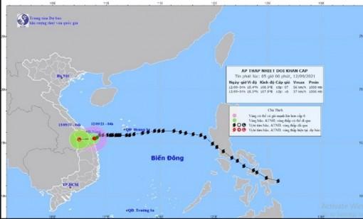 Bão số 5 suy yếu thành áp thấp nhiệt đới, tỉnh Quảng Bình đến Thanh Hóa mưa to