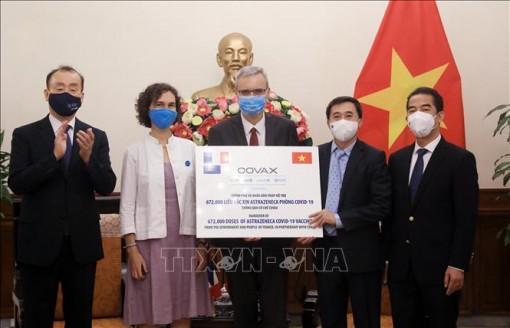 Việt Nam tiếp nhận gần 1,5 triệu liều vaccince của Pháp, Italy qua cơ chế COVAX
