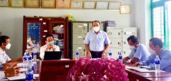 Bí thư Huyện ủy Tịnh Biên kiểm tra công tác phòng, chống dịch COVID-19 tại xã Tân Lập