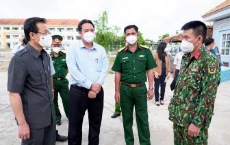 Bí thư Tỉnh ủy An Giang Lê Hồng Quang kiểm tra công tác phòng, chống dịch bệnh COVID-19 ở huyện Châu Thành