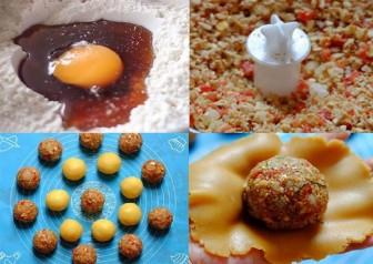 Tết Trung thu 2021: Cách làm bánh trung thu nhân thập cẩm bằng lò vi sóng