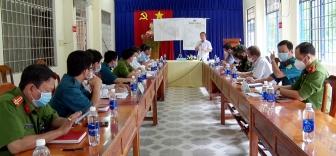 Bí thư Huyện ủy Tri Tôn làm việc với 3 xã giáp ranh tỉnh Kiên Giang