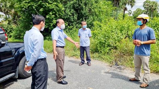 Bí thư Huyện ủy Tịnh Biên kiểm tra công tác phòng, chống dịch tại xã Nhơn Hưng