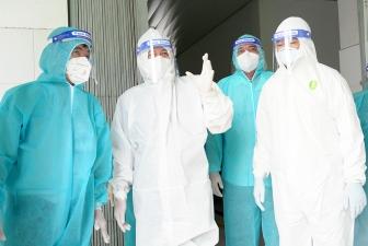 Bí thư Tỉnh ủy An Giang Lê Hồng Quang khảo sát, kiểm tra các cơ sở điều trị COVID-19