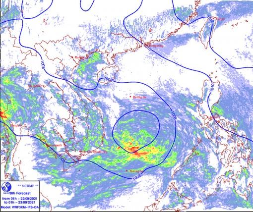 Thời tiết ngày 22-9: Trung Bộ, Tây Nguyên và Nam Bộ có mưa lớn diện rộng