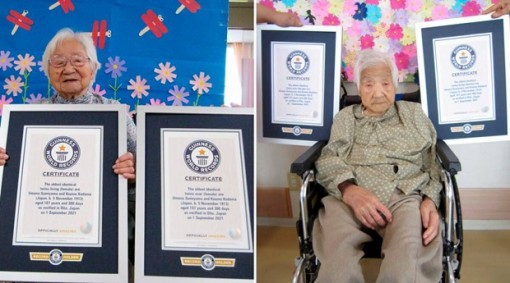 Sách Kỷ lục Guinness ghi danh cặp song sinh cao tuổi nhất thế giới