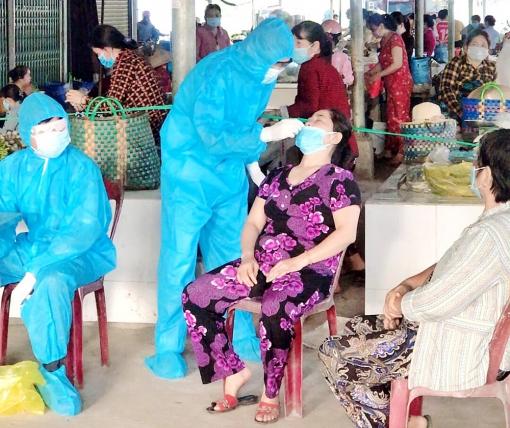 Người vào huyện Chợ Mới phải xét nghiệm SARS-CoV- 2 tại chốt kiểm soát
