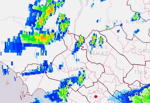 An Giang tiếp tục có mưa giông vào chiều tối 22-9-2021