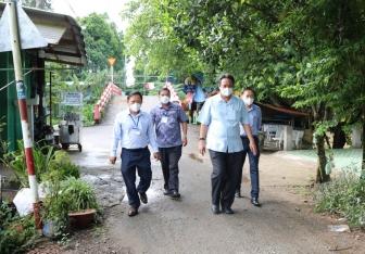 Lãnh đạo huyện Châu Thành kiểm tra công tác phòng, chống dịch bệnh COVID-19 tại thị trấn An Châu