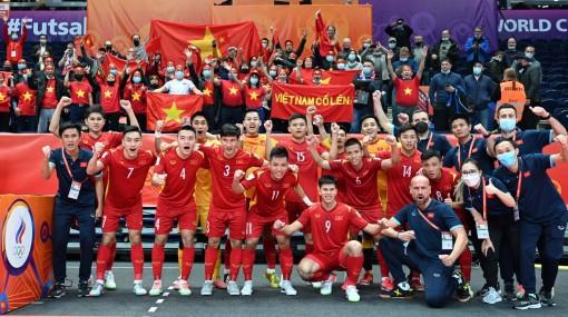 FIFA, AFC đánh giá cao nỗ lực của đội tuyển Futsal Việt Nam