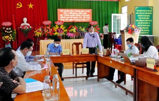 Kiểm tra, xét công nhận nông thôn mới nâng cao xã Tây Phú và Vọng Thê