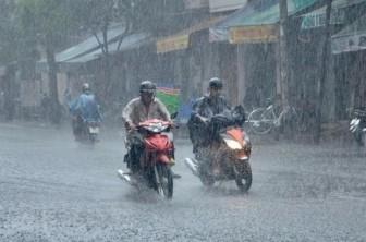 Các khu vực có mưa dông, đề phòng lũ quét, sạt lở đất ở vùng núi