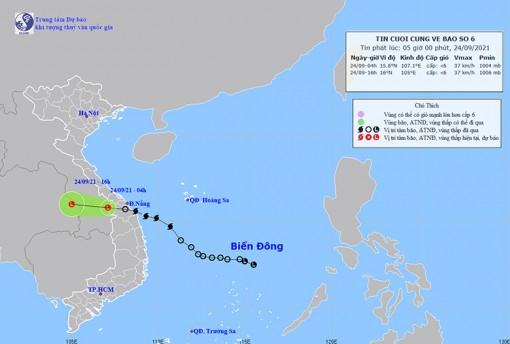 Thời tiết ngày 24-9: Bão số 6 suy yếu thành một vùng áp thấp, Trung Bộ, Tây Nguyên và Nam Bộ có mưa rất to