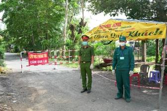 Châu Thành áp dụng biện pháp giãn cách xã hội theo Chỉ thị 15/CT-TTg trên địa bàn xã Vĩnh An và ấp Cần Thuận