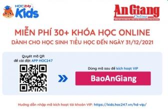 """Nhập mã """"BaoAnGiang"""" để học online miễn phí học kỳ I năm học 2021-2022"""