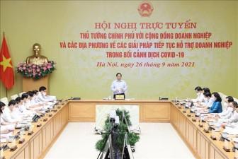 Thủ tướng chủ trì Hội nghị bàn giải pháp hỗ trợ doanh nghiệp