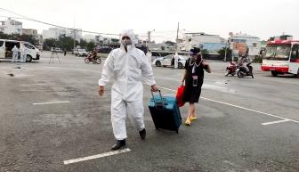 Đón 233 công dân An Giang từ TP. Hồ Chí Minh và các tỉnh: Đồng Nai, Long An, Bình Dương về quê an toàn