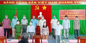 """Châu Phú ra mắt Tổ phòng, chống dịch COVID- 19 theo quy chế phối hợp """"2 An"""" trên địa bàn các xã, thị trấn"""