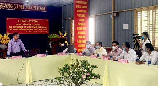 Kiểm tra, xét công nhận nông thôn mới nâng cao tại xã Vĩnh Khánh