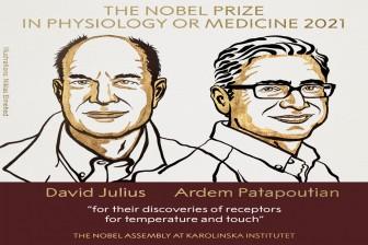 Giải Nobel Y học năm 2021 vinh danh hai nhà khoa học người Mỹ David Julius và Ardem Patapoutian