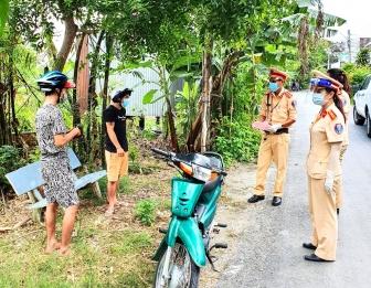 Công an huyện Châu Phú quyết tâm chống dịch