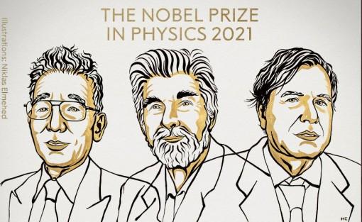 Ba nhà khoa học Mỹ, Đức, Italy giành Giải Nobel Vật lý năm 2021
