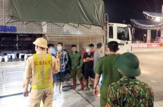 Giấu người bên trong xe tải chở lợn để thông chốt kiểm soát dịch bệnh