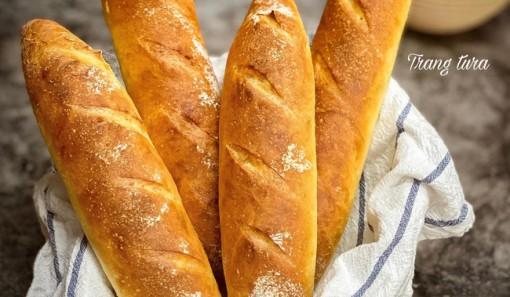 Mách bạn cách làm bánh mì vỏ giòn đặc ruột ngay tại nhà