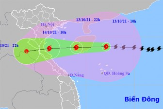 Bão số 8 cách Hà Tĩnh 640km, tăng tốc hướng về đất liền