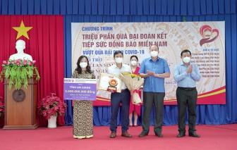 """BIDV tặng tỉnh An Giang 5 tỷ đồng thực hiện Chương trình """" Triệu phần quà Đại đoàn kết"""" và """"Túi an sinh"""""""