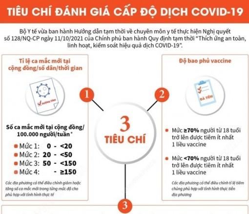 Tiêu chí đánh giá 4 cấp độ thích ứng an toàn COVID-19