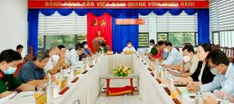 Phó Bí thư Thường trực Tỉnh ủy An Giang Lê Văn Nưng làm việc về tình hình tiếp nhận công dân và phòng, chống dịch COVID-19 tại huyện Châu Phú
