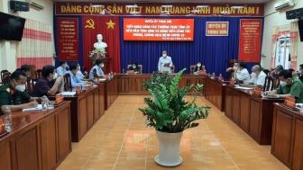 Phó Bí thư Thường trực Tỉnh ủy An Giang Lê Văn Nưng kiểm tra công tác phòng, chống dịch tại Thoại Sơn