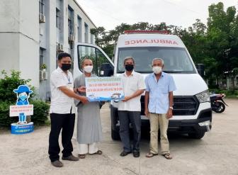 Thị trấn Long Bình có thêm 1 xe cứu thương để hỗ trợ phòng, chống dịch COVID-19