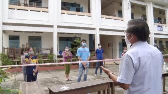 Bí thư Huyện ủy Tri Tôn kiểm tra công tác phòng, chống COVID-19 tại thị trấn Ba Chúc