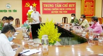 Quyết tâm dập dịch tại thị trấn Tri Tôn