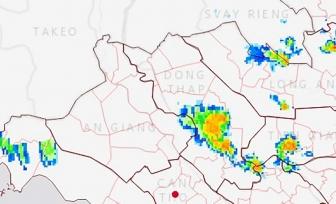 An Giang: Cảnh báo mưa giông chiều 19-10-2021