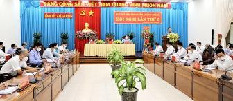 Bí thư Tỉnh ủy An Giang Lê Hồng Quang đề nghị cả hệ thống chính trị và nhân dân nêu cao quyết tâm thực hiện thắng lợi nhiệm vụ năm 2021