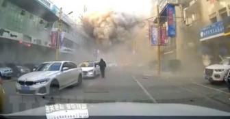 Nổ khí ga ở Trung Quốc: Tòa nhà cao 7 tầng bị phá hủy, 1 người chết