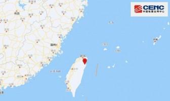 Động đất mạnh 6,3 độ làm rung chuyển huyện phía Đông Đài Loan
