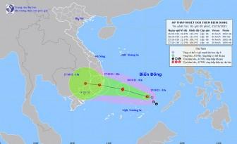 Thời tiết ngày 25-10: Áp thấp nhiệt đới phía Tây Bắc quần đảo Trường Sa, gió giật cấp 8