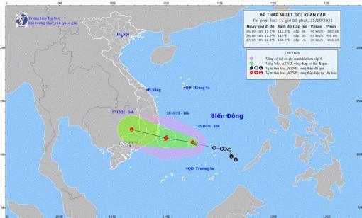 Áp thấp nhiệt đới di chuyển theo hướng Tây Tây Bắc, có khả năng mạnh lên thành bão