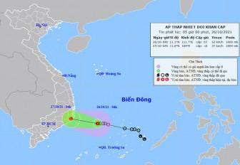 Thời tiết ngày 26-10: Áp thấp gây mưa to khu vực Trung Trung Bộ, Tây Nguyên và Nam Bộ