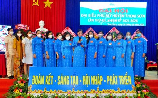Bà Dương Triết Minh tái đắc cử Chủ tịch Hội Liên hiệp Phụ nữ huyện Thoại Sơn nhiệm kỳ 2021-2026